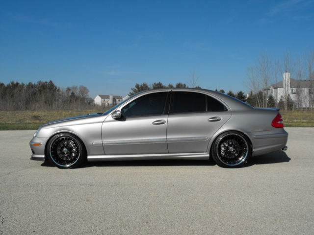 2003 mercedes e55 amg supercharged modified must see w211. Black Bedroom Furniture Sets. Home Design Ideas