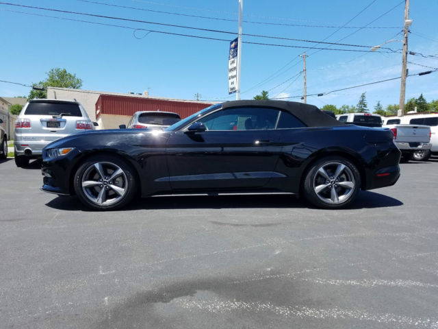 2015 triple black convertible ford mustang clean carfax - 2015 Ford Mustang Black Convertible