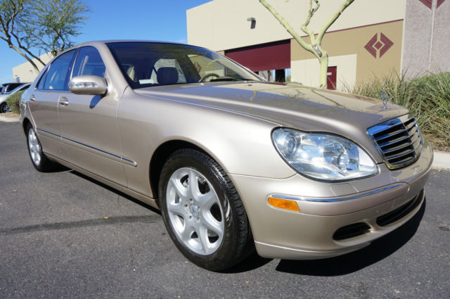03 gold s500 4matic awd sedan low miles like 2001 2002 for Mercedes benz 2002 s500 for sale