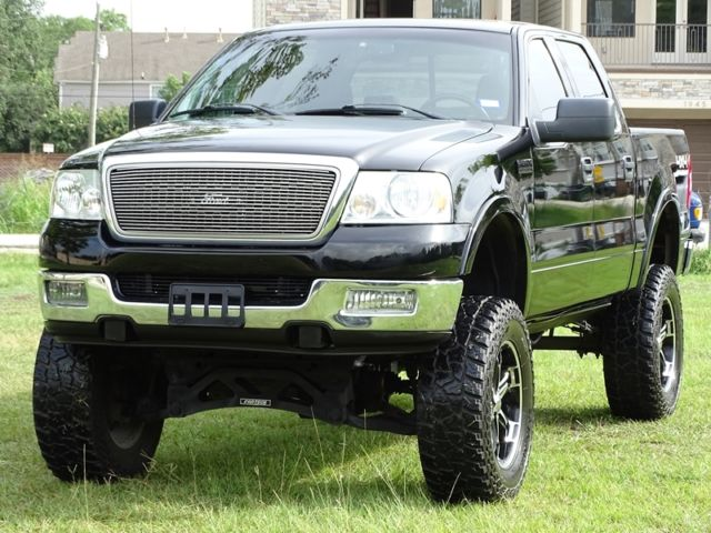 05 ford f150 lariat crew cab 4x4 lifted w 37 tires accident free tx truck. Black Bedroom Furniture Sets. Home Design Ideas
