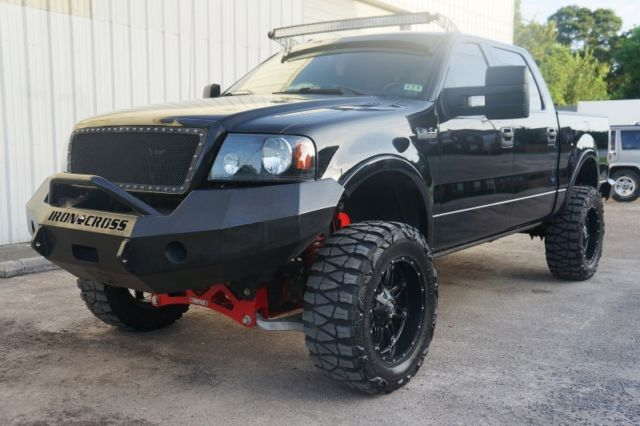 Ford F Lariat Crew Cab X Fab Tech Lift Kit Nitto Offroad Tires  Rims