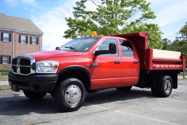 07 Dodge Ram 3500 Hd 4 Door Crew Cab Mason Dump Truck 4x4 57l Hemi