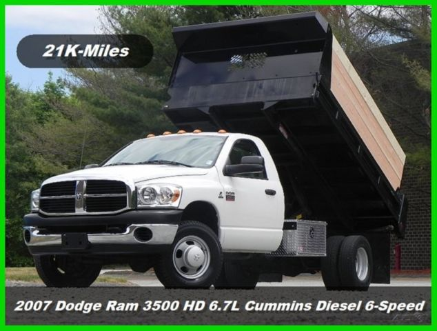 07 Dodge Ram 3500 Hd Regular Cab Dump Truck 4x4 67l Cummins Diesel