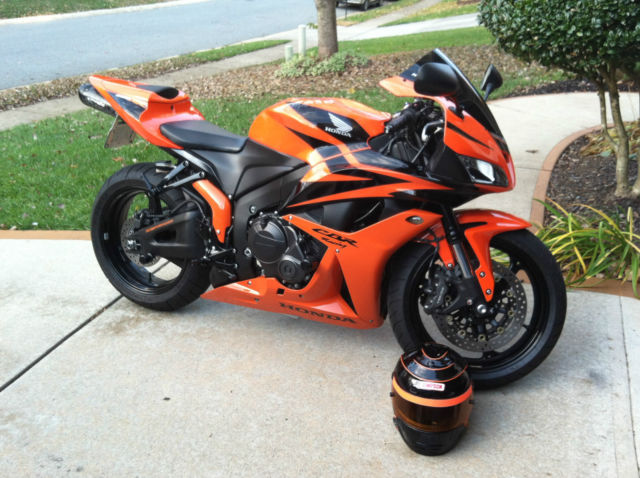 08 Honda Cbr 600rr Pearl Orange And Black