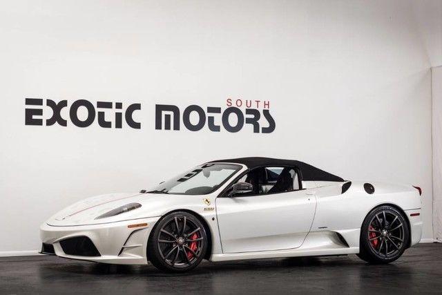 09 Ferrari F430 Scuderia 16m Spider F1 Bianco Fuji Peal White 1k Miles