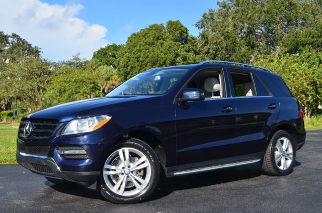 Mercedes Benz Sarasota >> 1 Owner Low Mileage 2014 Mercedes-Benz M-Class ML350 P1 Pkg Lunar Blue Metallic