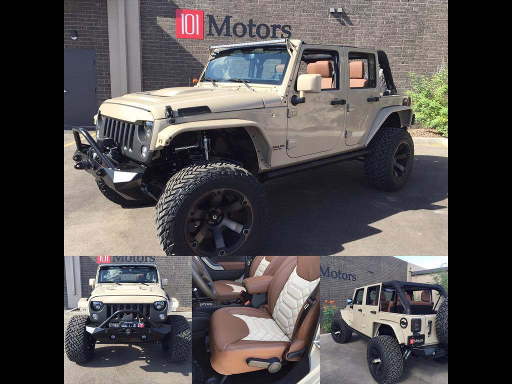 101 Motors Custom Mojave Sand Jeep Wrangler 35 Aev Leather 20 Tj Tow Wiring Fuels 125mi