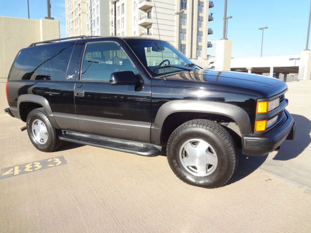 $11,995 Buy-It-Now - RARE 1999 Chevy 2 Door Tahoe 74k Mi ...