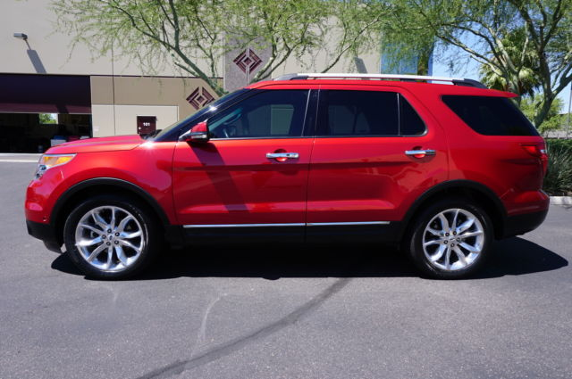 12 explorer limited candy red 1 owner 20 wheels like 2009