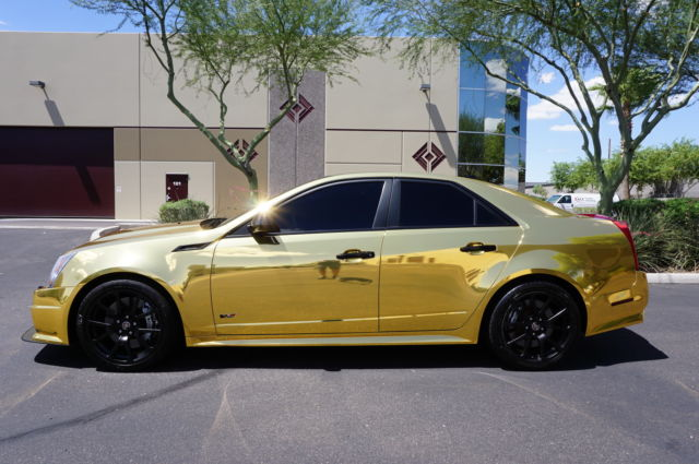 12 Gold Wrapped CTS V 4 Door Clean CarFax No Accidents like 2009 2010 2011 2013