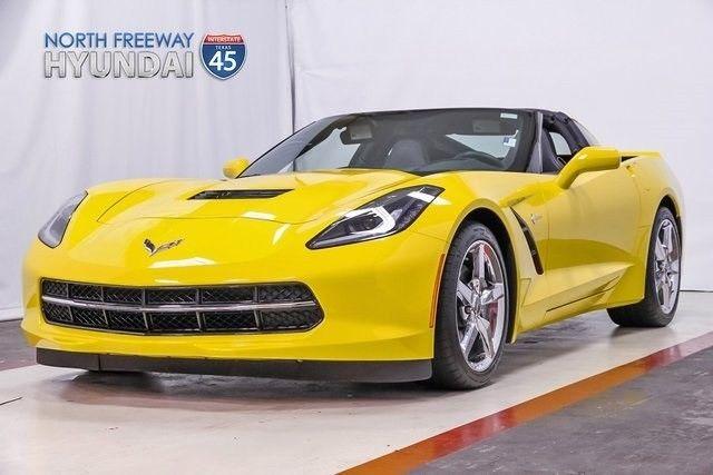 14 Corvette Yellow Auto 5114 mi Multi Mode Exhaust