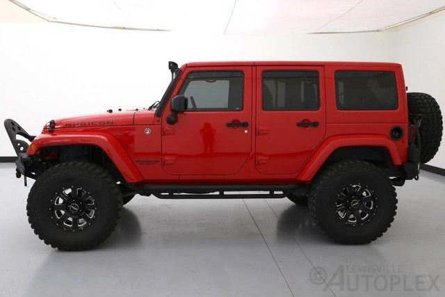 14 jeep wrangler unlimited rubicon 4 door red lifted tuner led 4x4. Black Bedroom Furniture Sets. Home Design Ideas