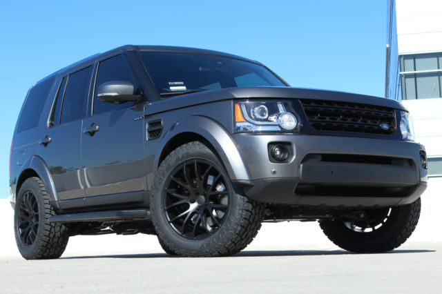 15 Land Rover Lr4 Lux Edition Full Custom Blacked Out One