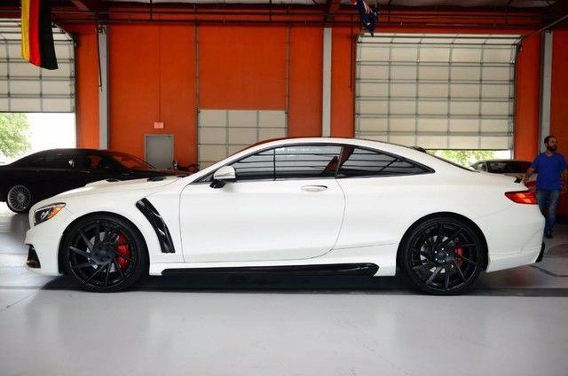 15 mercedes benz s550 black bison wald kit matte white paint for Mercedes benz matte paint