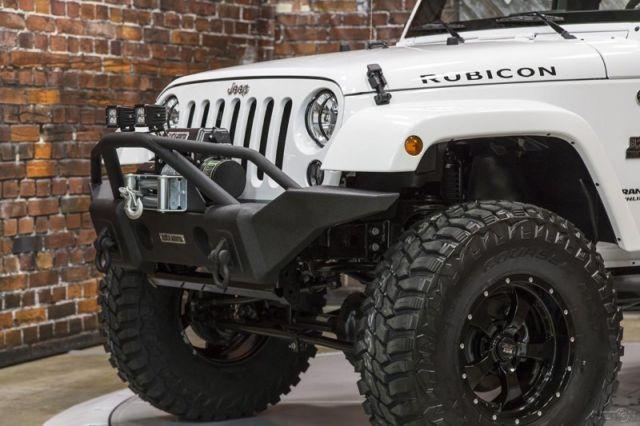 15 Rubicon White Manual Black Mountain Lift Wheels Tires