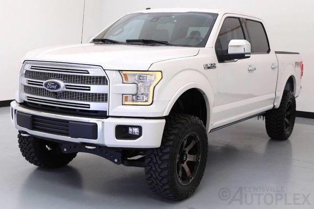 16 Ford F150 Platinum 6 Inch FTS Lift 20 Inch Fuel Wheels Navigation