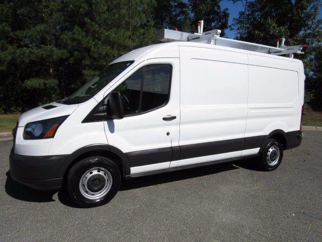 2016 Ford Transit T250 >> 16 Ford Transit T-250 Medium Roof Cargo w/ Ladder Rack Bins 9583 Miles Warranty