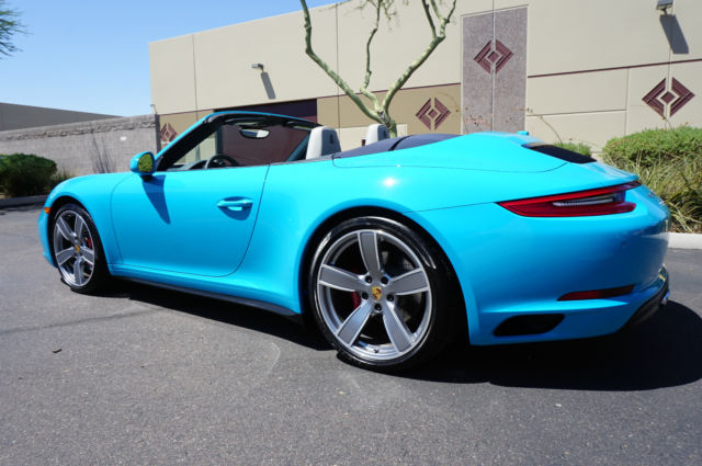 17 Porsche 911 Awd Convertible Miami Blue 4 S Like 2011