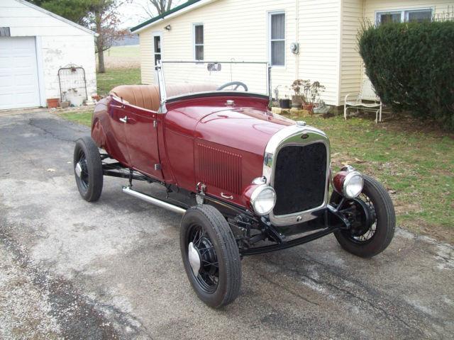 1928 28 Ford Model A Roadster Traditional 4 Banger Steel