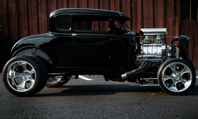 1930 Ford Model A Coupe All Steel Body Chopped Top