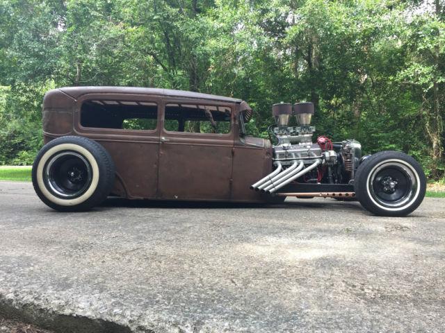 1931 Ford Model A Tudor Chopped Channeled Fast Hot Rod