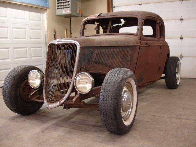 1933 1934 Ford Steel Henry 5 Window Coupe Project Hot Rod ...
