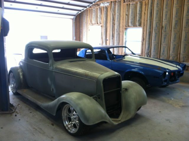 1934 Chevy 3 window coupe steel hot rod