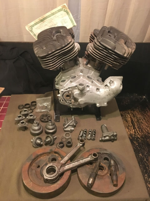 1937 Harley Davidson Big Twin U Flathead Engine Motor Ul