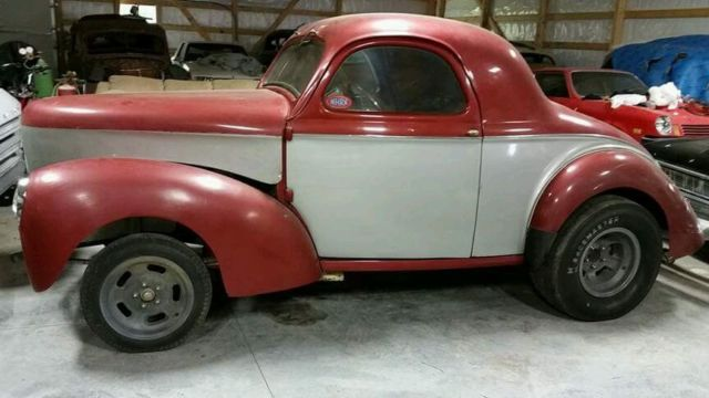 1940 Willys Coupe 1960's Gasser Survivor Time Capsule Rare Find