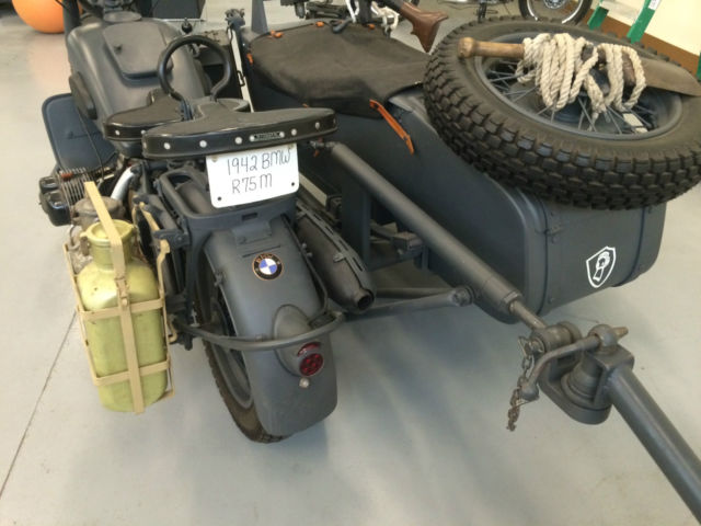 United Mileage Plus >> 1942 BMW R75 Military Motorcycle with Sidecar and Trailer Excellent Condition