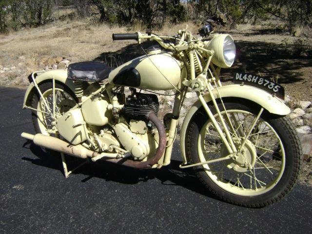 1942 bsa m20 wwii british n  africa military 500 flathead