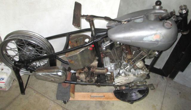 1942 Fl Knucklehead No Reserve Basket Panhead U Harley