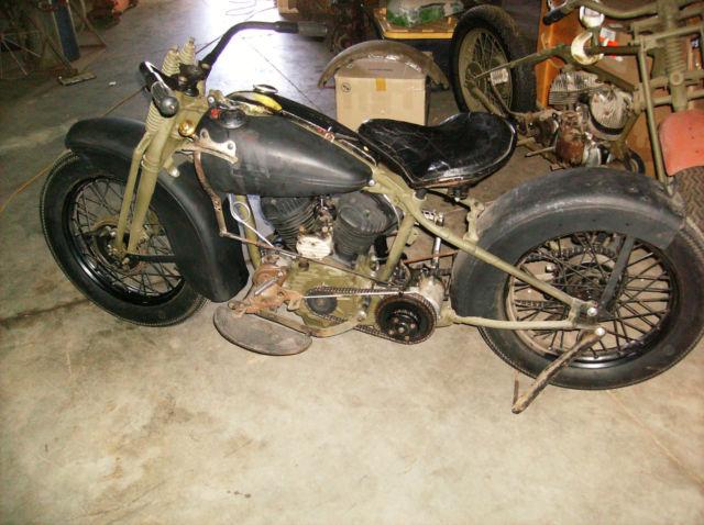 1942 HARLEY DAVIDSON WLA BOBBER-RAT BIKE-HARLEY 45