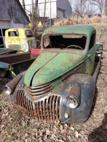 1946 chevy pickup truck junkyard fresh ready for frame swap or stock build. Black Bedroom Furniture Sets. Home Design Ideas