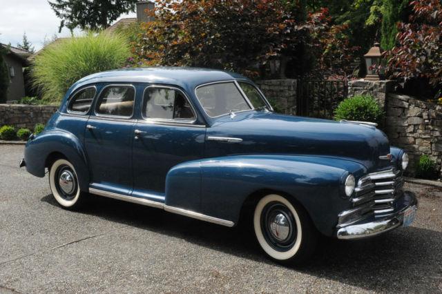 1947 Chevrolet Chevy Fleetmaster 4 Door Deluxe Sport Sedan
