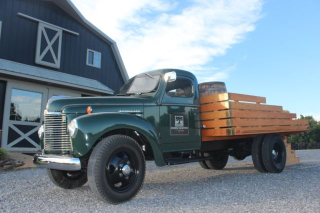 1947 international harvester kb5 flatbed truck. Black Bedroom Furniture Sets. Home Design Ideas