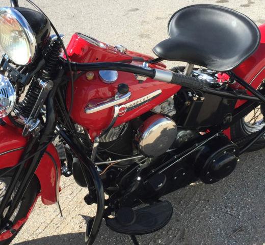 1947 Ul Harley Davidson Motorcycle
