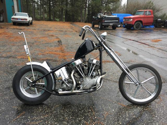 Harley Davidson: 1949 HARLEY DAVIDSON FL PANHEAD CHOPPER