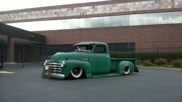 Bagged 48 Chevy Truck