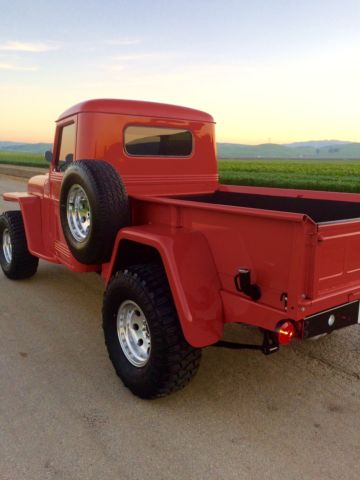 1951 willys overland jeep 4x4 pick up pickup truck 51. Black Bedroom Furniture Sets. Home Design Ideas
