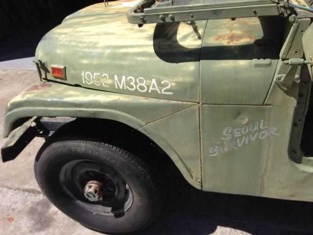1952 Jeep Willys M38 M38a2 Korean War Seoul Survivor Complete