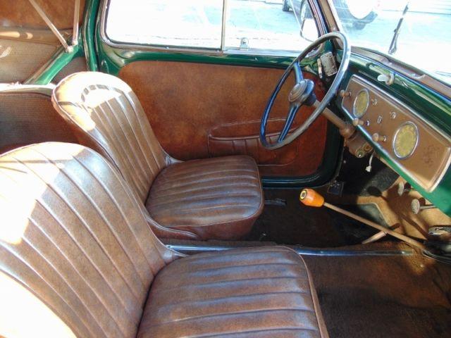 1954 fiat 500 c topolino convertible  dark green with