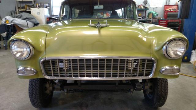 1955 Chevy 2dr Station Wagon Gasser Hot Rod Rat Rod