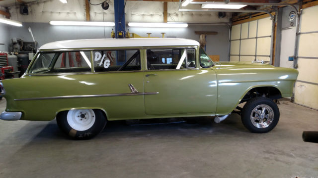 1955 Chevy 2dr Station Wagon Gasser Hot Rod Rat Rod