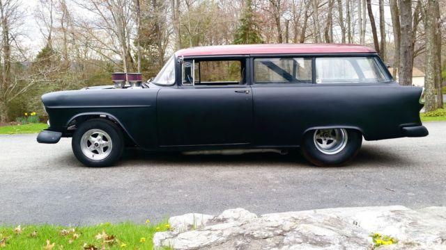 1955 chevy pro street handyman 2 door wagon 383 4 spd for 1955 chevy 4 door wagon