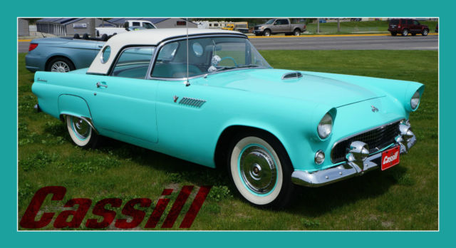 1955 ford thunderbird hard top convertible ready to show off for Cassill motors used cars