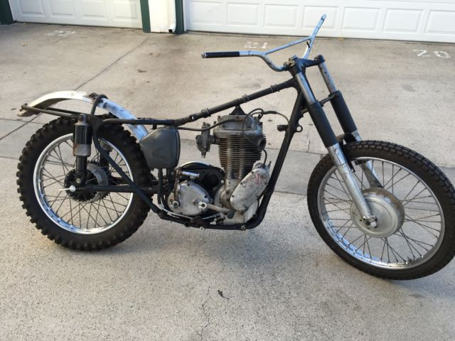 1956 Ajs 18cs Like Matchless G80cs Desert Sled