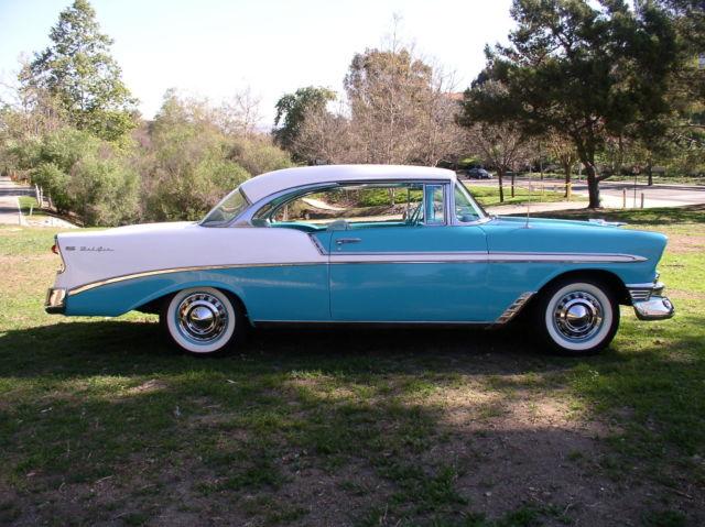 1956 chevrolet belair 2 door hardtop sport coupe nice