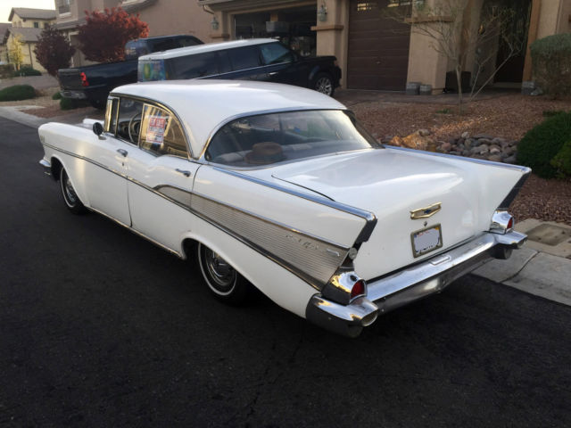 1957 chevy bel air 4 door hard top no post needs work for 1957 chevrolet 4 door