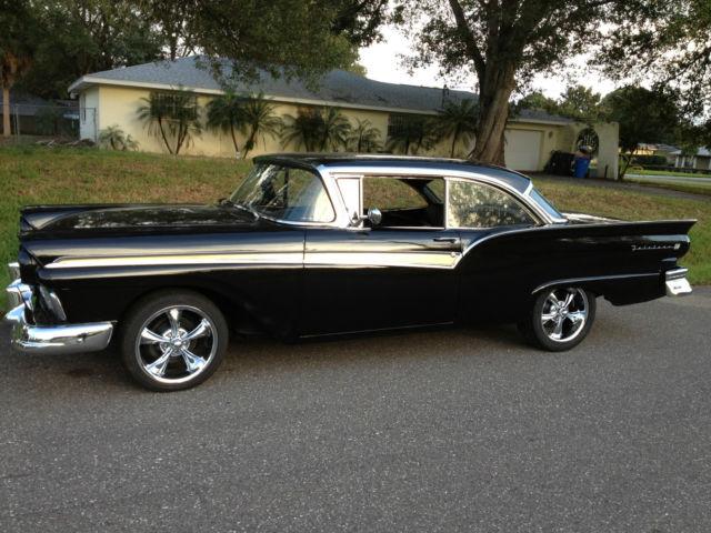 1957 Ford Fairlane 500 Black On Black 2 Dr Hardtop 292 V8